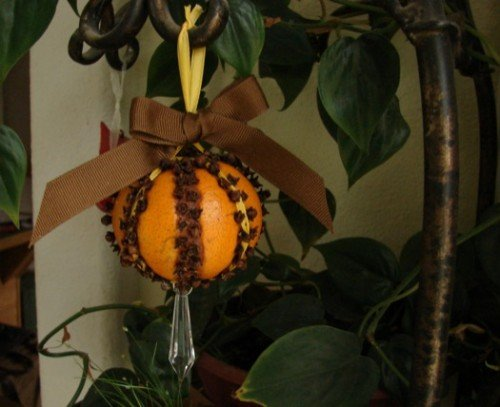 Oranges and Cloves ball ornament