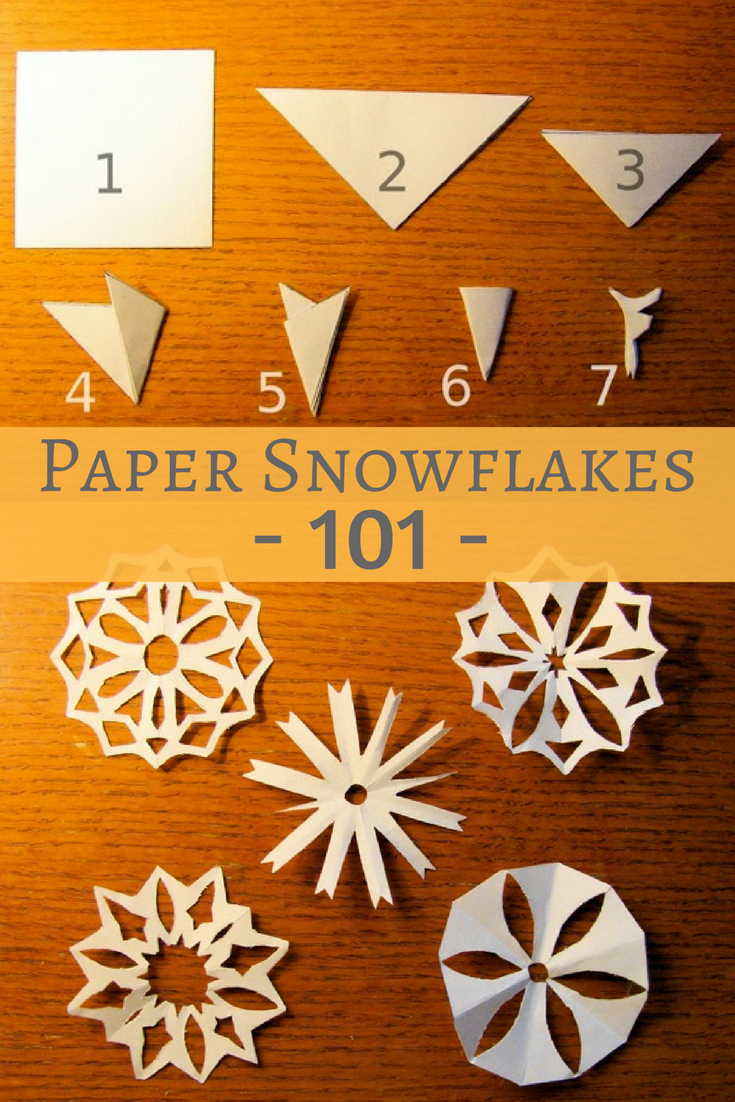 instructions for cutting paper snowflakes
