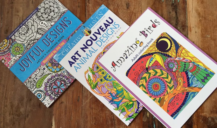 Adult Coloring Books! Review x3
