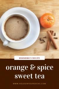 grandma's orange spice sweet tea mix
