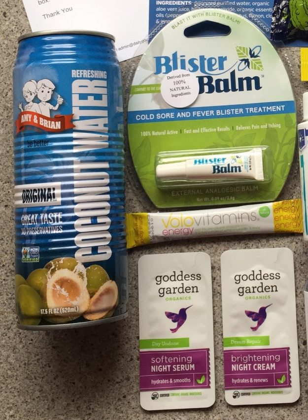 daily goodie box coconut water blister balm