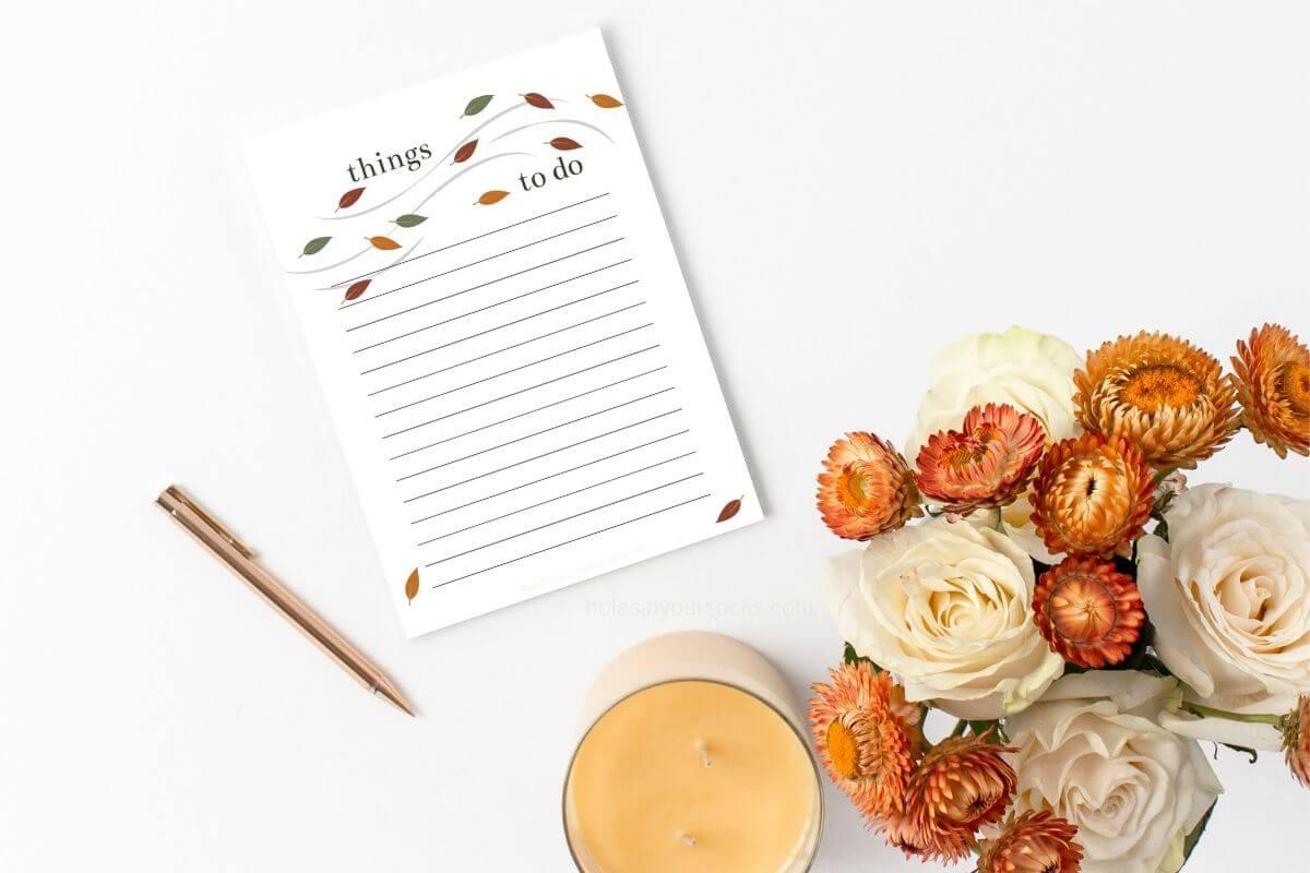 free printable to do list cute fall leaves