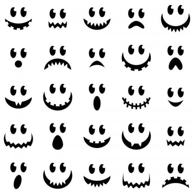 pumpkin faces ideas for drawing or carving