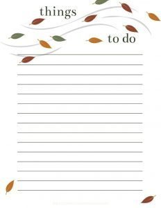 free printable to do checklist with cute leaves