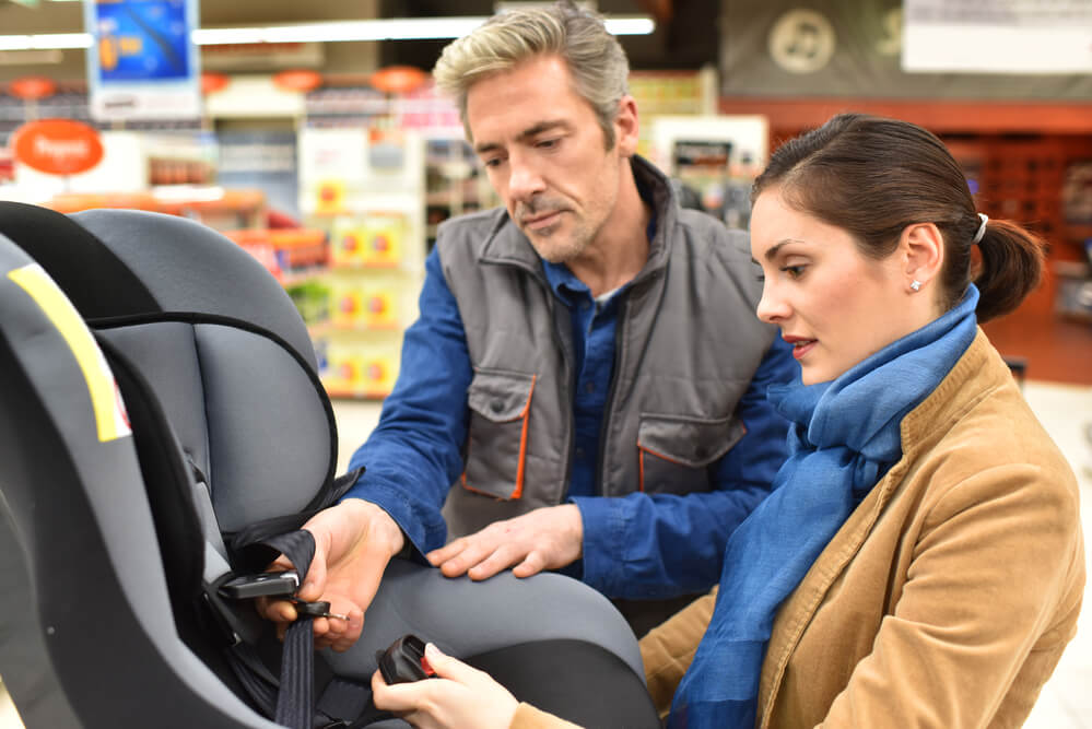 counterfeit car seat in store